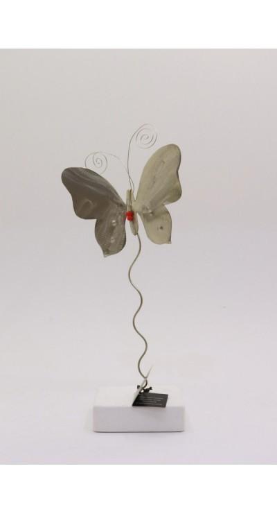 Ασημί πεταλούδα σε άξονα